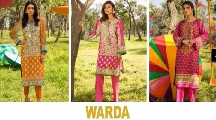 warda top clothing brand in paksitan